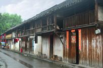 元通古镇传统川西木板房子