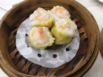 蒸笼虾子干蒸美食图片