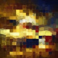 现代色块抽象油画艺术