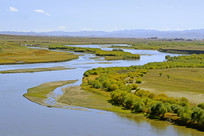 阿坝的黄河支流白河风光