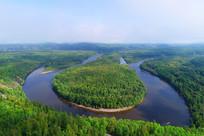 大兴安岭森林激流河白鹿岛