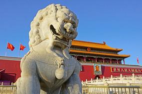 北京天安门城楼及石狮