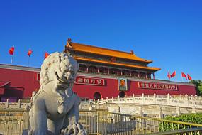 北京天安门城楼-石狮