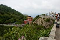 泰山南天门全景图