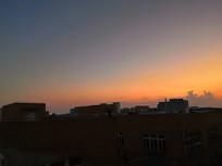 傍晚晚霞日落