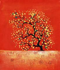 发财树油画
