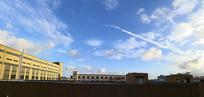 工厂的蓝天白云