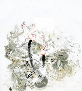 水墨荷花画