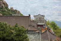 泰山古建筑寺庙房顶