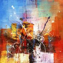 抽象玄关壁画