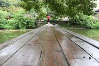 江西瑶里木板桥桥面