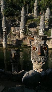 贵州贵阳夜郎谷的石头古堡
