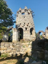 贵州贵阳夜郎谷的宋氏古堡美景