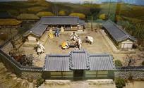 韩国传统家庭正月餐饮雕塑