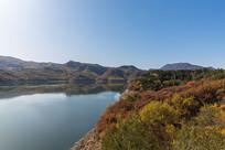 秋天北京延庆的水库