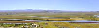 九曲黄河第一湾俯拍全景