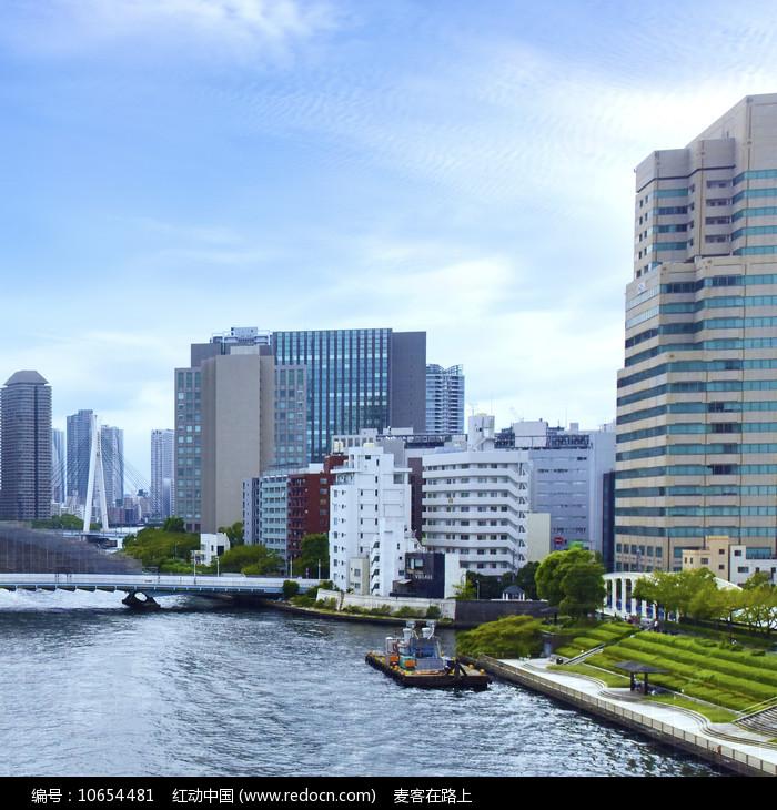日本东京的城市建筑风光图片
