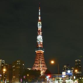 日本东京塔的夜景