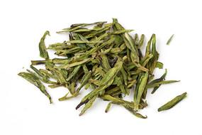 西湖龙井茶叶白底摄影图