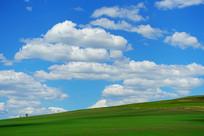 绿色农田蓝天白云