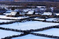 内蒙古呼伦贝尔边塞村庄