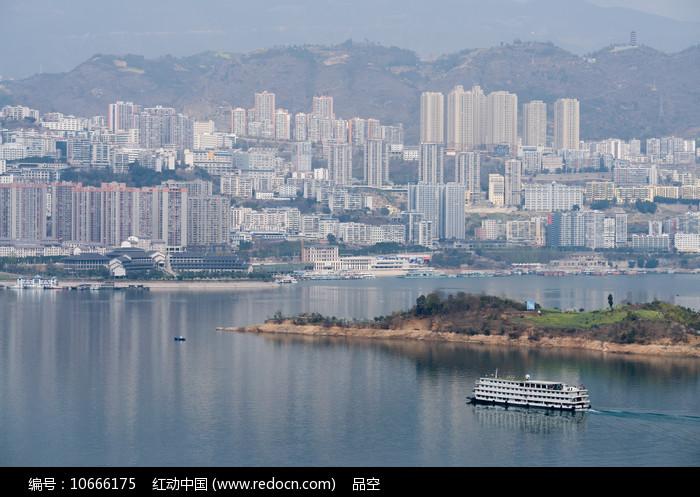巫山移民新县城山水城市风光图片