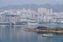 巫山移民新县城山水城市风光