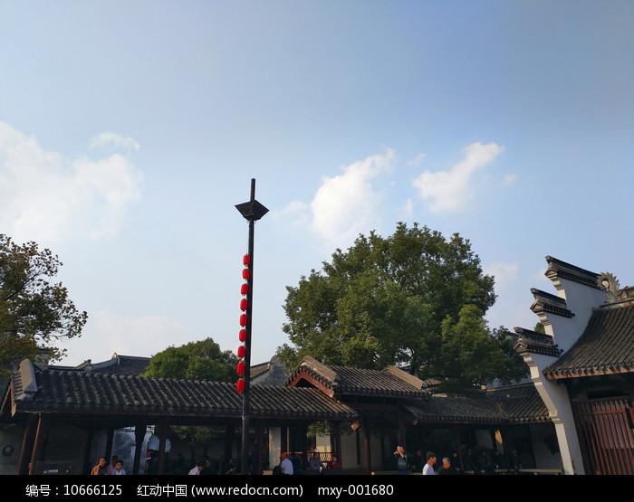 乌镇古广场图片