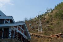 正在运行的巫山黄岩景区索道