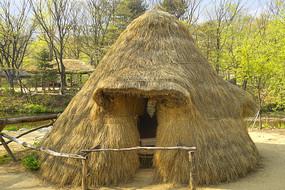 韩国民俗村传统水磨房作坊