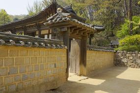 韩国民俗村龙驹衙门门楼