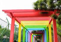创意彩虹门设计