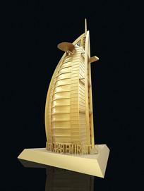 帆船酒店模型