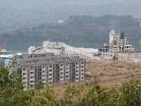 重庆云阳郊外化工厂厂区