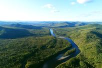 大兴安岭原始森林激流河风景