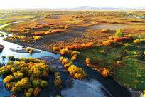 内蒙古牙克石丛林河湾秋色