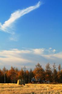 农场田野农家秋季风光