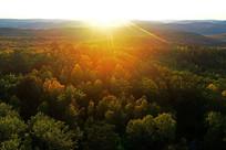 山林日出朝阳风景