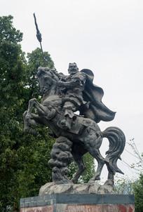 重庆云阳城市雕塑-张飞战斗塑像