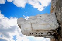 北京天坛古代排水系统龙出水石雕
