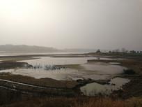 家乡的水库景色