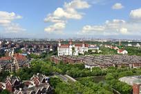 上海宝山区城市风光