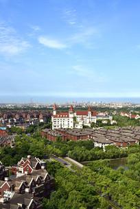 上海宝山区的北欧小镇绿化