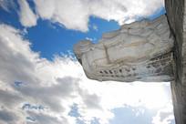 天坛古代排水系统-龙出水石雕