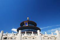 北京天坛祈年殿仰拍