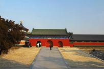 北京天坛公园祈年殿门楼