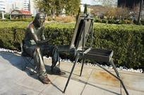 绘画人雕塑