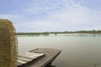 北京野鸭湖的小木船