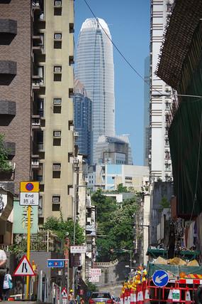 香港摩天大楼远眺