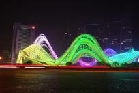 武汉光谷广场夜景-光之舞